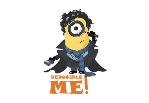 MINION, SHERLOCK MODE, THE LAZY DECTECTIVE, DESPICABLE ME WALL ART Wall Art  | Artist : Nihal Dad Khan