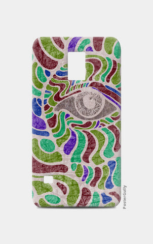 abstract eye colorful vector illustration Samsung S5 Cases | Artist : Simran Sain
