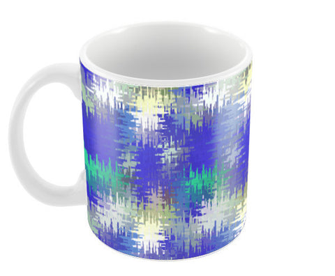 Blue Abstract Art Modern Decorative Coffee Mugs | Artist : Seema Hooda