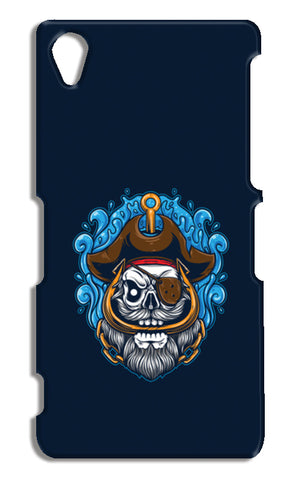 Skull Cartoon Pirate Sony Xperia Z2 Cases | Artist : Inderpreet Singh