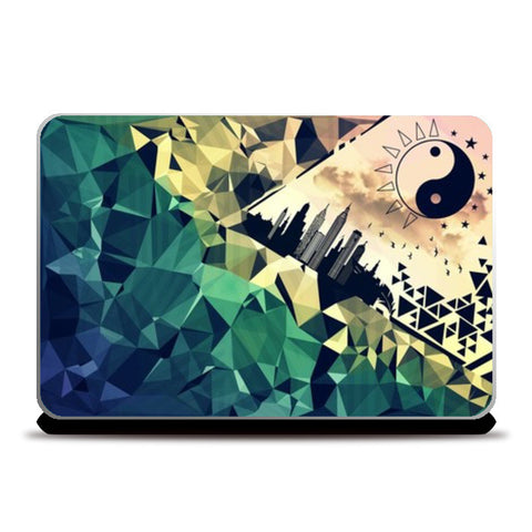 Geometric city scape Laptop Skins | Artist : nilesh gupta