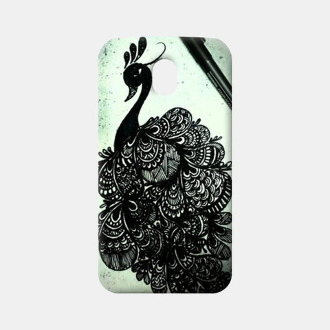 Moto G3 Cases, Peacock-Zentangled Moto G3 Cases | Artist : Surabhi Jha, - PosterGully