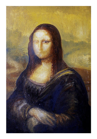 One-eyed Mona Lisa Art PosterGully Specials