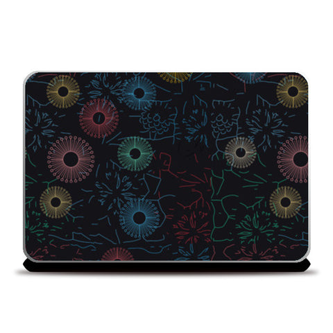 Difficult level mandala circle flower pattern Laptop Skins | Artist : Designerchennai
