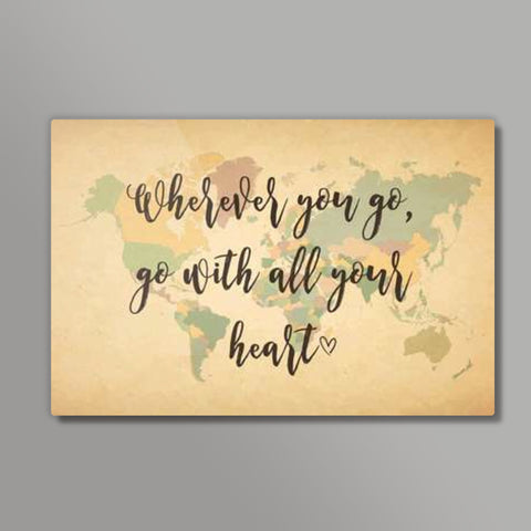 World Map With Text Quotes Metal Prints | Artist : Inderpreet Singh