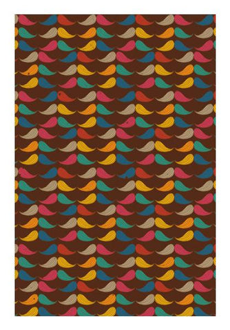 PosterGully Specials, Leaves mustaches pattern Wall Art | Artist : Designerchennai, - PosterGully