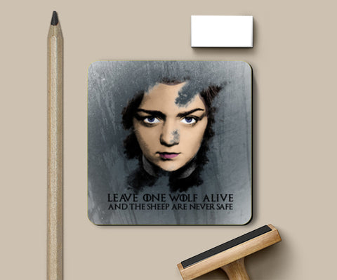 PosterGully Coasters, Game of Thrones | Arya Stark | Coasters | Artist : Vivid Corner, - PosterGully