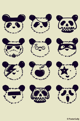 Wall Art, The Most Disguised Panda - Cream | By Captain Kyso, - PosterGully - 1