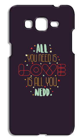 All you need is love is all you need Samsung Galaxy Grand Prime Cases | Artist : Designerchennai