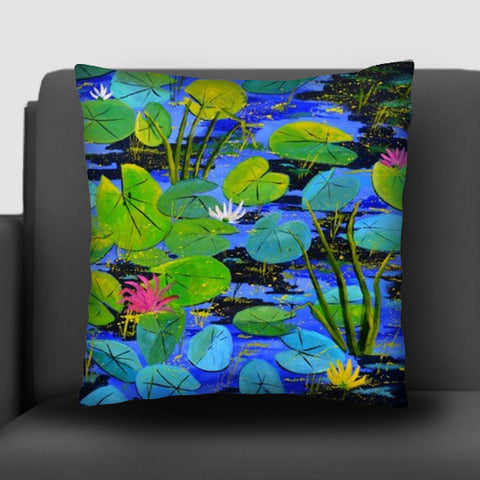 water lilies 88 Cushion Covers | Artist : pol ledent
