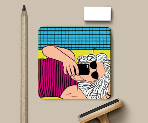 Poolside! Coasters | Artist : DISHA BHANOT