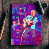 Chris Martin from Coldplay Notebook | Artist : Ayushi Jain