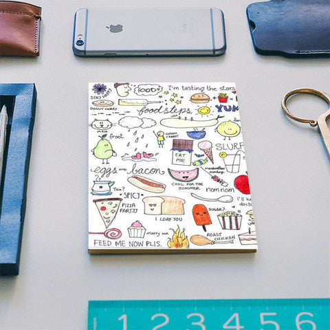 Foodie coloured doodle notebook Notebook | Artist : Anjali Nilakantan