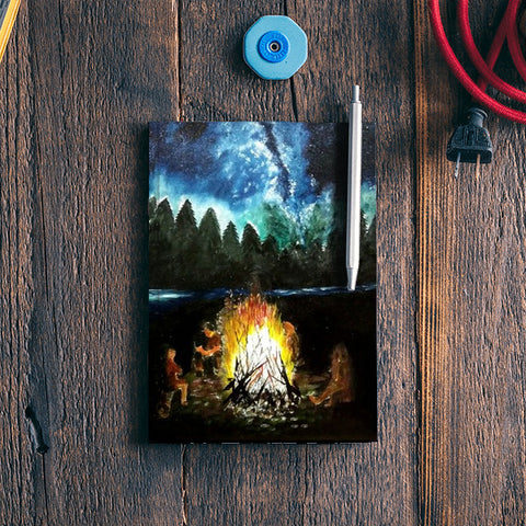 Wanderlust : Camping under the beautiful sky Notebook | Artist : Mohor