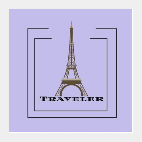 TRAVELER Square Art Prints | Artist : Pallavi Rawal