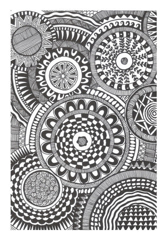 Prints in Circles Wall Art | Artist : Aniket Mitra