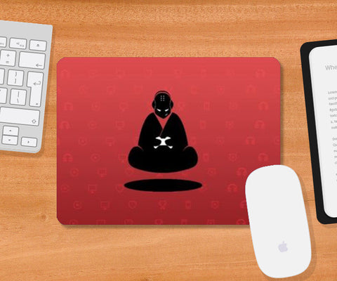 Mousepad, Red Monk Mousepad | Artist : GamingMonk, - PosterGully