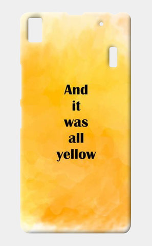 COLDPLAY : YELLOW Lenovo K3 Note Cases | Artist : Kau.Vish