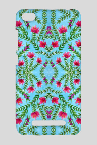 Blue And Pink Traditional Watercolour Floral Pattern Redmi 4A Cases | Artist : Seema Hooda