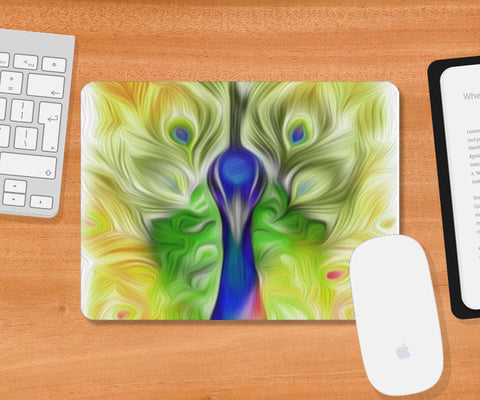 Mousepad, The colours in me PEACOCK Mousepad | Vidhisha Kedia, - PosterGully