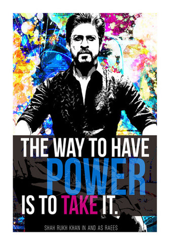 Wall Art, Shah Rukh Khan in Raees Wall Art | Artist : Rashi Srivastava, - PosterGully