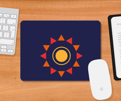 The sun Mousepad | Artist : Akash Gutha