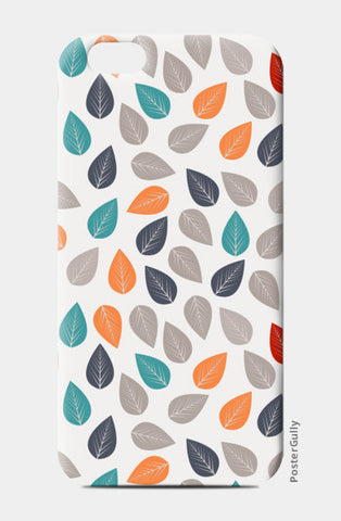 Seamless pattern with multicolored leaf on light background iPhone 6/6S Cases | Artist : Designerchennai
