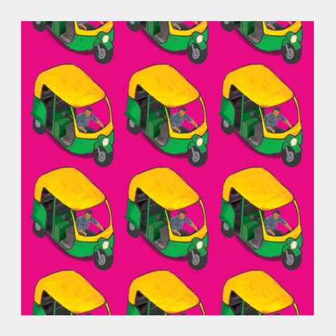 Square Art Prints, Auto Wala Square Art Prints | Artist : Deepikah Bhardwaj, - PosterGully