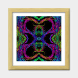 Shiva | Digital Abstract Premium Square Italian Wooden Frames | Artist : Nandini Rawat