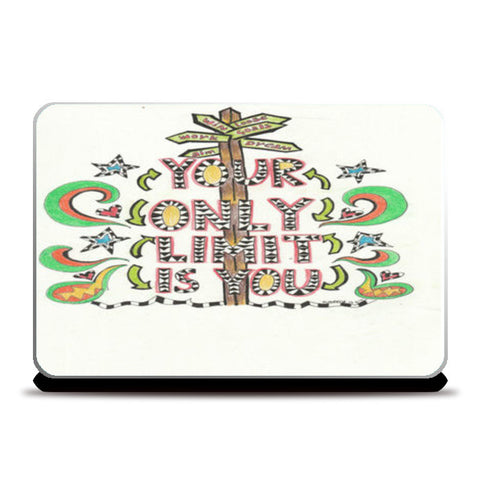 your only limit is you Laptop Skins | Artist : Suneera Heloise Mendonsa