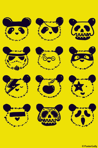 Wall Art, The Most Disguised Panda - Yellow | By Captain Kyso, - PosterGully - 1