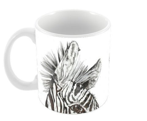 Two Zebras Coffee Mugs | Artist : Papo Mukherjee