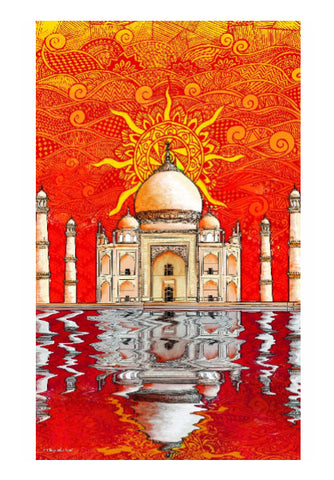 Wall Art, The Red Taj Wall Art | Chayanika, - PosterGully