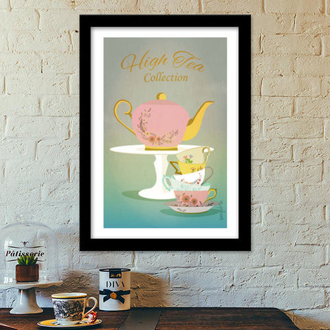 Premium Italian Wooden Frames, High Tea Collection Premium Italian Wooden Frames | Artist : Sanyukta bhatnagar, - PosterGully - 1