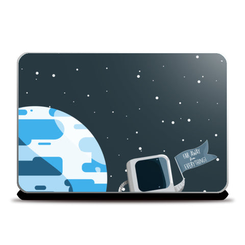 Far Far Away Laptop Skins | Artist : Aditya Golechha