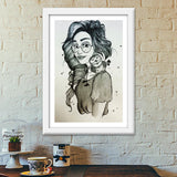 Be your own kind of beautiful (Green) Premium Italian Wooden Frames | Artist : Asees Kaur