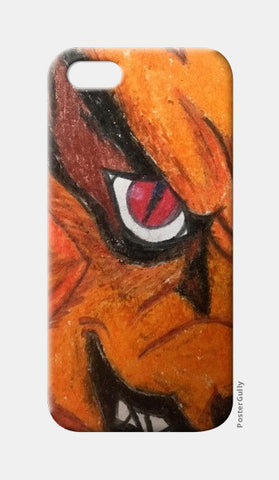 Naruto - Nine-Tailed Fox | Oil Pastel Sketch | iPhone 5 Cases | Artist : Nandini Rawat
