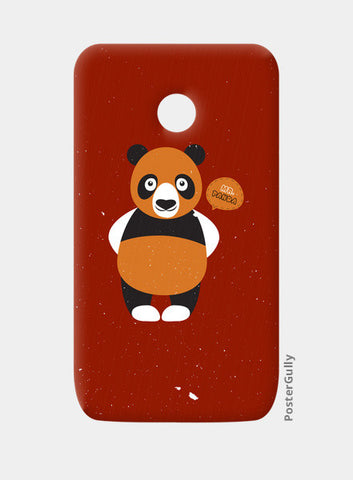 Panda On Red Moto E Cases | Artist : Designerchennai