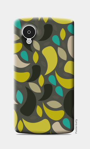 Seamless leaf geometric shapes Nexus 5 Cases | Artist : Designerchennai