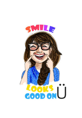 Smile Looks Good On You Art PosterGully Specials