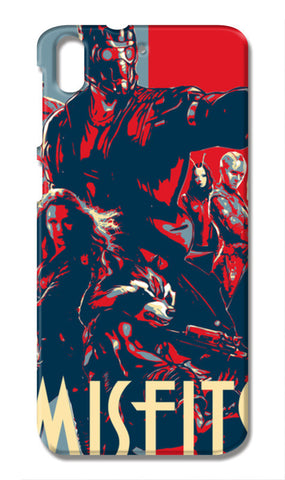 Guardians Of Galaxy Misfits HTC Desire 728G Cases | Artist : LinearMan