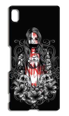 Girl With Tattoo Sony Xperia Z4 Cases | Artist : Inderpreet Singh