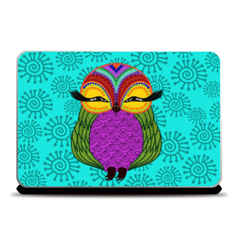 Baby Zoe the adorable baby owl Laptop Skins | Artist : Animal kingdom