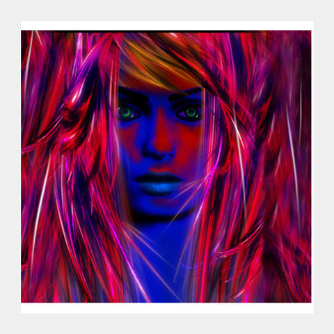 Miss psychedelic! Square Art Prints | Artist : Jessica Maria