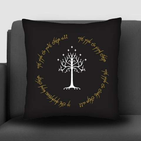 Lord of the ring Gondor white tree gold  Cushion Covers | Artist : Gauri Deshpande