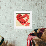 Peice of heart Premium Square Italian Wooden Frames | Artist : Not Just Doodle