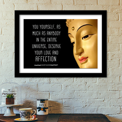 Buddha Quote about YOU Premium Italian Wooden Frames | Artist : Manju Nk