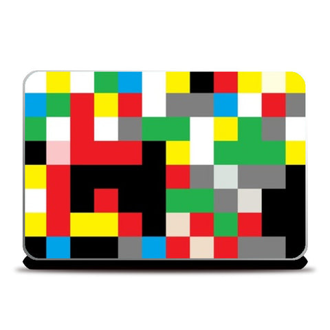 Laptop Skins, Multicolor Checkers Laptop Skin | Vaibhav Dangwal, - PosterGully