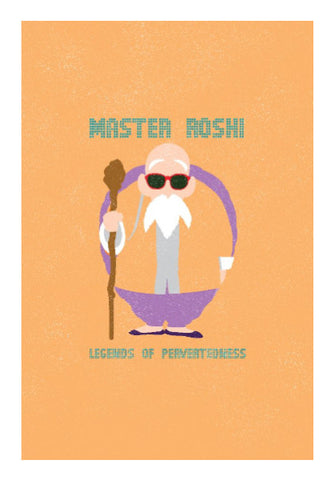 Wall Art, Master Roshi Dragon Ball Wall Art | Rishabh Bhargava, - PosterGully