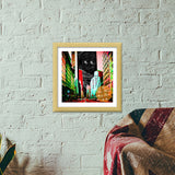 City Night Premium Square Italian Wooden Frames | Artist : Tiny Dots